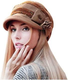 YIXINGSHANGMAO Hat, Ladies Autumn and Winter Beret, Fashion Basin Cap/Warm Fisherman Hat/Pile Cap 55cm-57cm, One Size Warm (Color : Brown)