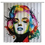 SZTNSM Duschvorhang Marilyn Monroe Ancient Greek Culture Sun God Memorial Pattern Landscape Tree Exquisite Mädchen Familie Badezimmer Polyester Duschvorhang mit 12 Haken mehrfarbig 70