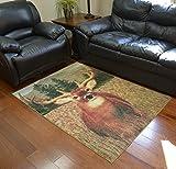 Monster Buck Deer Rustic Lodge Cabin 4x6 Area Rug 4' W X 5'8 L