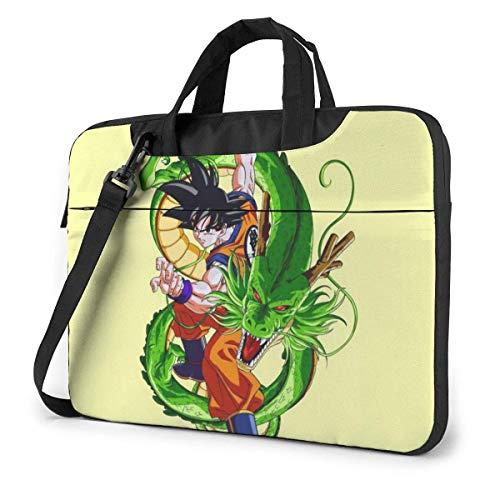 Laptop Shoulder Messenger Bag, Japanese Anime DBZ Cool Shenron and Goku Fan Art Business Bags, Computer Carrying Case