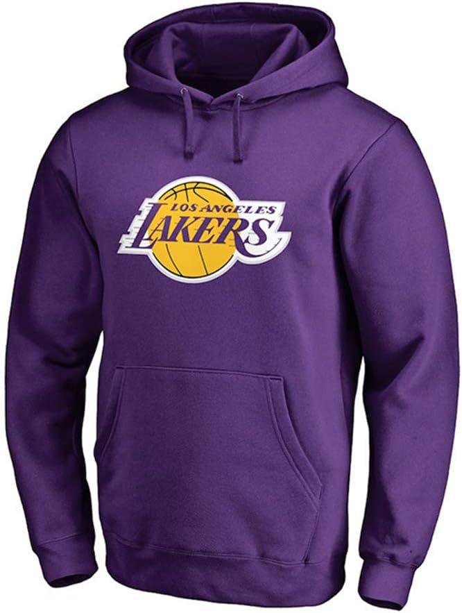 Dybory Lakers 2020 Finals Champions Sweat /à capuche pour homme Lebron James 23 # Los Angeles Lakers Pull d/écontract/é /à capuche Top Training Maillots Violet Taille L