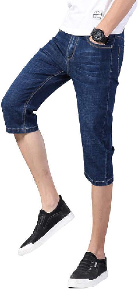 Men's Shorts Casual Large Size Fashion Summer Thin Slim Stretch Denim Shorts 28