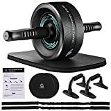 Gonex Ab Roller Wheel for Core Workout, Ab Roller for Abs Workout, Ab Roller with Resistance Bands,...