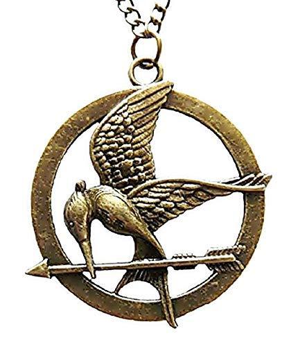 Lovelegis Collana Hunger Games da Donna - Mockingjay - The Mocking JayAntica - Incisioni Dettagliate - Colore Bronzo