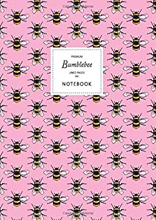 Bumblebee Notebook - Lined Pages - A4 - Premium: (Pink Edition) Fun notebook 192 lined pages (A4 / 8.27x11.69 inches / 21x...