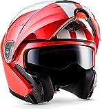 "MOTOHelmets F19 ""Racing Red"" · Motorrad-Helm · Klapp-Helm Modular-Helm Flip-up..."