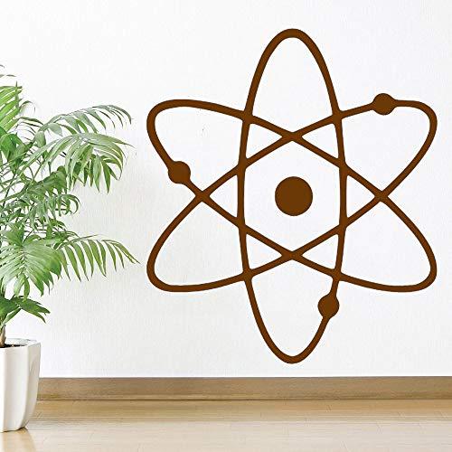 Ajcwhml Etiqueta de Arte de Pared extraíble Dormitorio Ciencia átomo símbolo decoración del hogar Cartel 42x48 cm