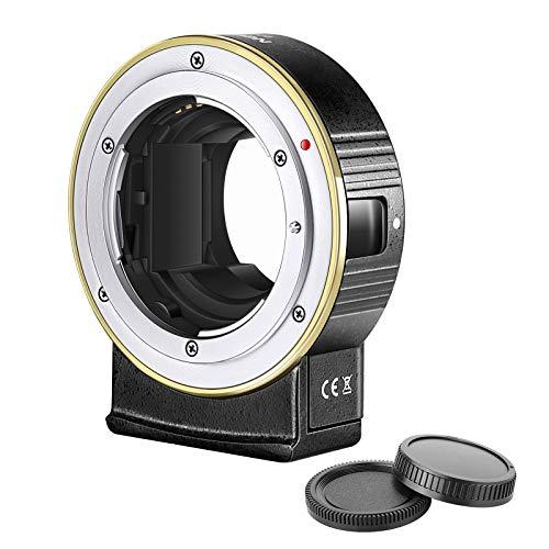 Neewer Adaptador Montura Lente AF Electrónico Auto Foco Compatible con Lente Nikon...