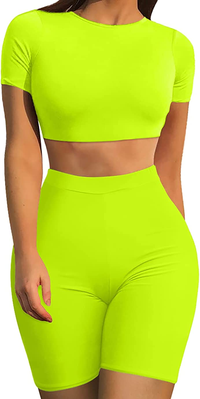 GOBLES Women's Sexy 2 Piece Outfits Quality inspection Crop Bodycon Basic Popular brand Tank Top
