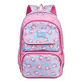 Tinytot Designer Hi Storage School Backpack School Bag for Girls (Sky Blue) 26