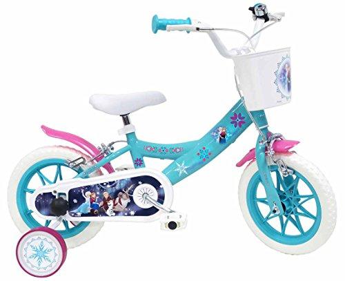 Bicicletta DISNEY FROZEN per bambini di 3-5 anni, Blu, Ruote 30,5 cm (12)