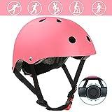 自転車 ヘルメット DUTISON こども用 軽量 通気性 子供/大人も適用 スポーツ 通園 サイクリング インラインスケートに適用 S サイズ:50~54cm 3~8歳 子供用 ピンク