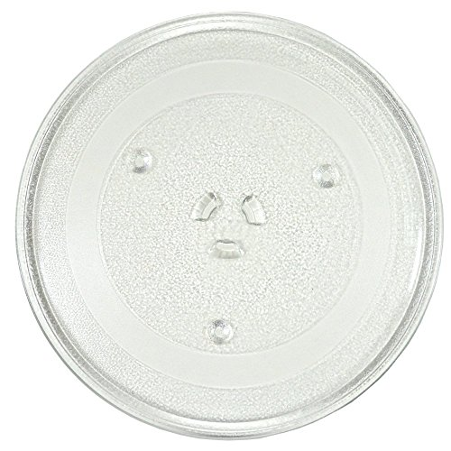 HQRP 11-1/4 inch Glass Turntable Tray Compatible with Sharp 9KC3517203500 R309YK R309YV R309YW R318AV R331ZS Microwave Oven Cooking Plate