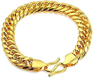 24K Real Gold Plated Men's Classy Link Bracelet