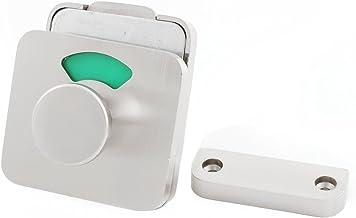 Legering Handvat Trekken Bolt Satijn Rechthoek Toilet Deur Lock Indicator