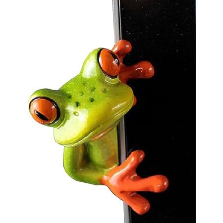 Novelty Resin 3D Craft Frog Decoration Office Desk Computer Decoration