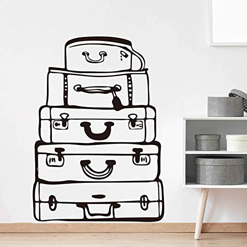 Tianpengyuanshuai Reistas muur sticker slaapkamer woonkamer koffer reizen muur sticker baby kinderkamer vinyl decoratie
