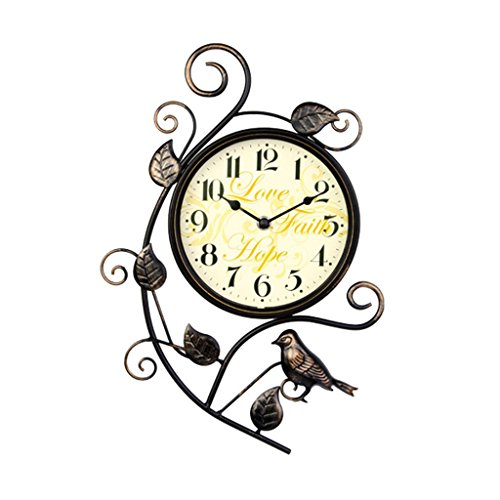 William 337 Wanduhr Uhr Relogio De Parede Digital Stumm Uhr Reloj Duvar Saati Retro Kreative Eisen Kunst Vogel Uhr Wanduhren