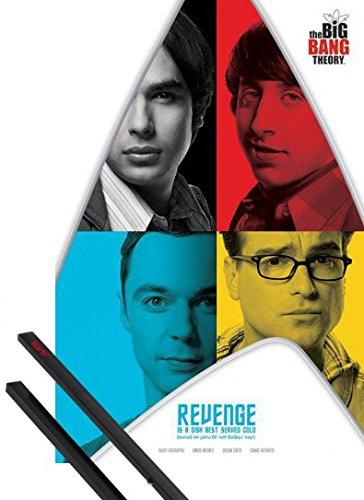 1art1 The Big Bang Theory Poster (91x61 cm) Revenge Et Kit De Fixation Noir
