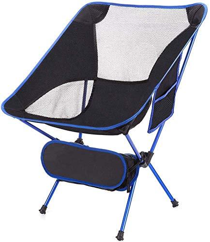 Lanrui Silla de camping portátil compacta plegable sillas de mochilero cómodas ligeras con estructura de cordón de choque fácil de limpiar para montañismo viaje al parque silla plegable al aire libre
