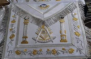 Masonic Regalia Past Master Apron White