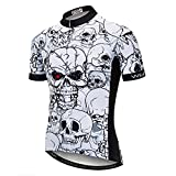 JPOJPO - Camiseta de ciclismo para hombre, diseño de calavera