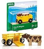 BRIO Bahn 33406 - Tierwagen mit Kuh, White