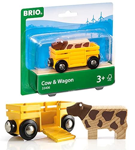 BRIO Bahn 33406 - Tierwagen mit Kuh