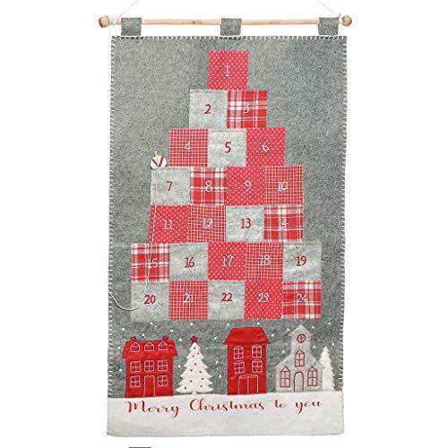 Dibor Lusso Merry Christmas Countdown Festive Calendario dell' avvento a Forma di casa in Legno
