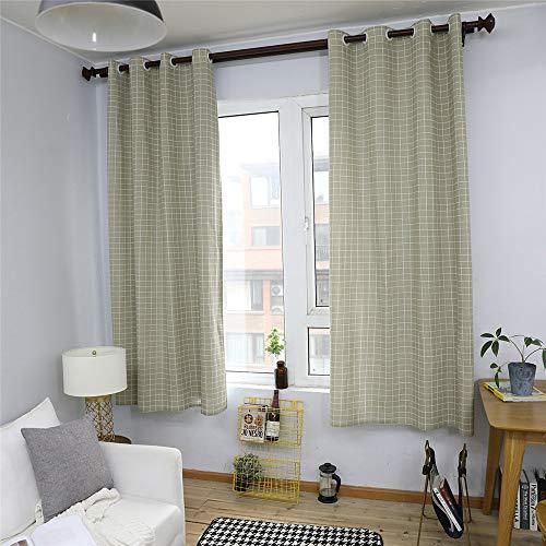 YUNSW Einfache Baumwolle Leinen Vorhang Geometrischen Druck Küche Wohnzimmer Schlafzimmer Dekorativen Vorhänge 1 Stück