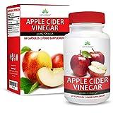 Vinaigre de Cidre de Pommes 400mg - Riche en Vitamines et Minéraux - Apple Cider Vinegar - 90 Capsules (3 Mois...