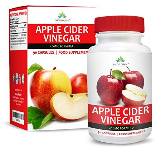 Vinagre de Sidra de Manzana - 400 mg - Apple Cider Vinegar - 90 Cápsulas (Suministro Para...