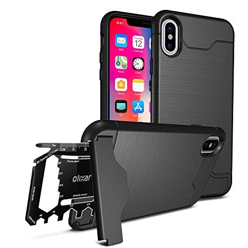 Olixar iPhone X Tough Case X-Ranger - Protective Case + Kickstand -...