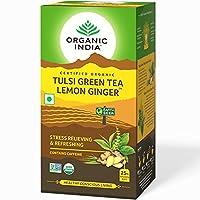 - Organic India Tulsi Green Tea Lemon Ginger - 18 Tea Bags by ORGANIC INDIA