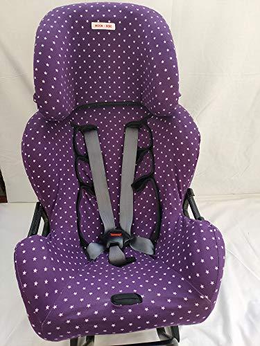 MOON-BEBE Funda para silla de coche Klippan Kiss 2 Y KLIPPAN PLUS (VIOLETA)