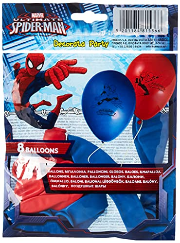 Marvel Ballon, 10203734, Rosso, Blu