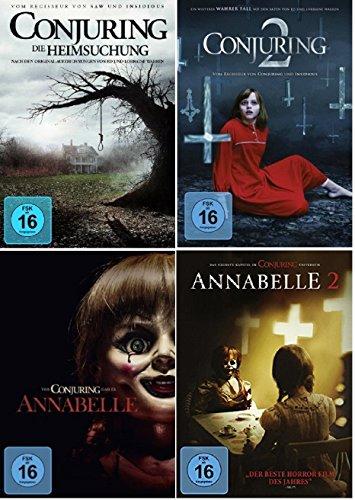 Conjuring Teil 1+2 + Annabelle Teil 1+2 [DVD Set]