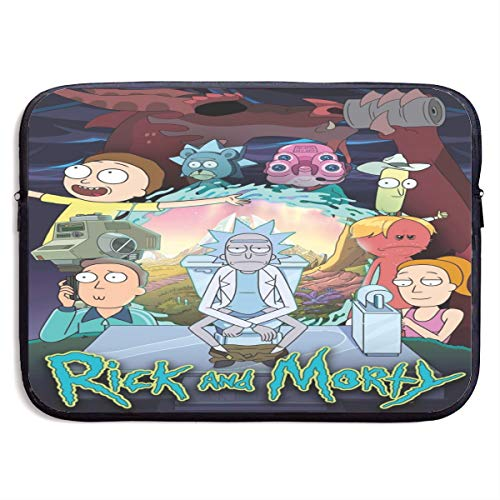 Rick and Morty Laptop Handbag, Messenger Case Bag, Computer Briefcase with Zipper fit for 13/15-Inch, Anti Shock Waterproof Cover Protector for School Work