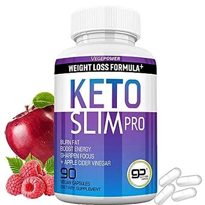Keto Slim Pro Ultra Keto Pills (BHB+ACV   90 Capsules)-4 in 1 Keto Burn Exogenous Ketone-Rapid Utilize Fat for Energy, Boost Focus for Women Men