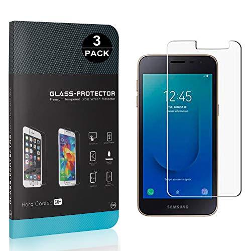 Bear Village® Verre Trempé pour Galaxy J2 Core, Sans Poussière, Ultra Transparent, 3D Touch Protection en Verre Trempé Écran pour Samsung Galaxy J2 Core, 3 Pièces