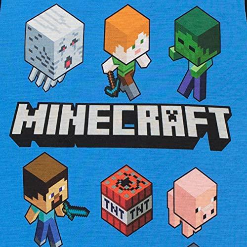 Minecraft Pijamas de manga corta para niños Steve and Creeper Negro 5 - 6 Años