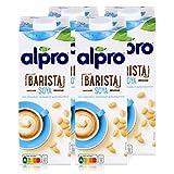 Alpro Barista Soya 1L - rein pflanzlich - fantastisch aufschäumbar (4er Pack)