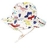 XYIYI Toddler Baby Dinosaur Sun Hat Kids Bucket Hats Wide Brim Beach Hat for 2-4 Years Old Boys Girls