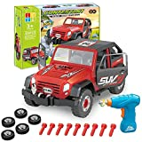 Enllonish Take Apart Toy Car Off Road Vehicle, Construction Toys Kit with Realistic