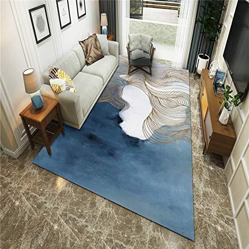 Michance Europäische Art Moderne Ölgemälde Abstrakte Druck Fußmatte rutschfest Dicke Sofa Home Teppich Schlafzimmer Wohnzimmer Hotel Party Bed & Breakfast Teppich