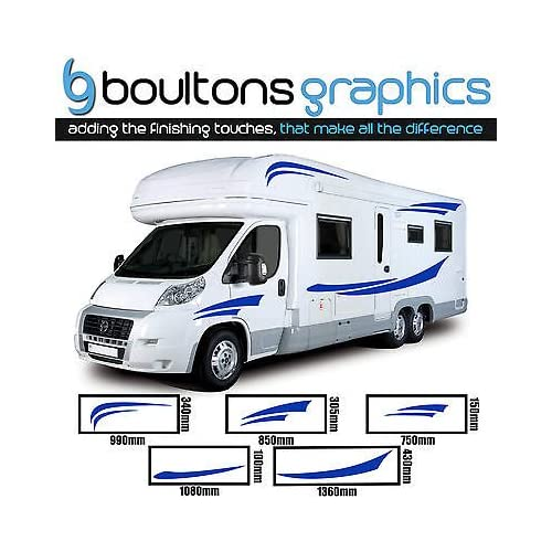 843bea82ea MOTORHOME STRIPES - Camper Van Horsebox Caravan Decals Vinyl Sticker  Graphic SS1