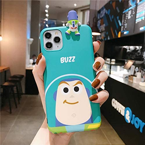 [MOQINO] For iPhone Buzz Lightyear Toy Story Pattern Soft TPU Phone Case Silicone Case Cover (Style 1,For iPhone 11)