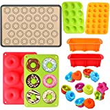 Silicone Baking Set, 31PCS Nonstick Silicone Bakware Set with Donut Pans,Silicone Muffin Pan, Bread...
