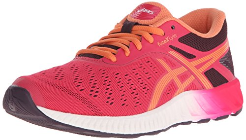 ASICS Women's Fuzex Lyte Running Shoe, Mid Grey/White/Pink Glow, 5.5 M US