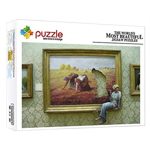 FFGHH Mini Puzzles Exhibición De Pintura Puzzle 1000 Piezas Puzzle Puzzle 1000 Piezas Puzzles Imposibles para Niños Adultos Amigo 38X26Cm
